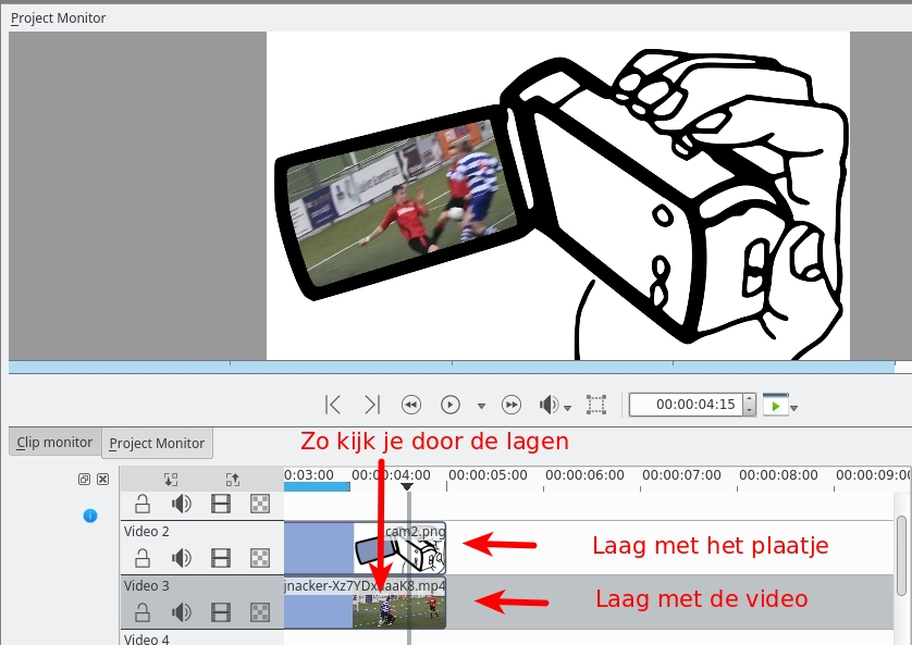 In de video-editor